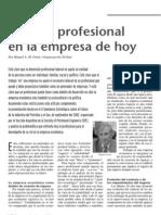 Perfil Profesional en Las Empresas de Hoy