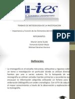 Importancia y Función de los Elementos del Informe de Monografía