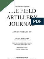 Field Artillery Journal - Jan 1937