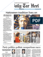 The Daily Tar Heel for November 1, 2012