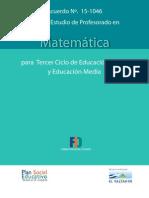 Matematica Plan 2013