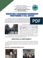 OCTOBER 2012- PCR Accomplishment Report