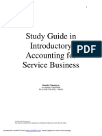 Study Guide in Introductory Accounting for Service Business