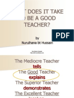 What Does It Take to Be an Excellent Teacher