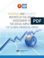 REGIONALANDCOUNTRY  REPORTS OF THEASEANASSESSMENT ONTHE SOCIAL IMPACT OFTHEGLOBAL FINANCIAL CRISIS