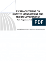 ASEAN Agreement on Disaster Management and Emergency Responce Work Programme for 2010-2015