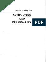 Abraham Harold Maslow Motivation and Personality