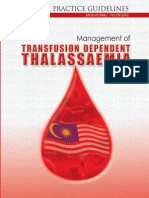 CPG Management of Transfusion Dependent Thalassaemia