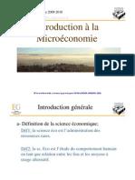 Introduction à la Microéconomie (Faculté d'économie et de Gestion Clémon Ferrand)