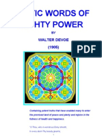Mystic Words of Mighty Power - Walter DeVoe