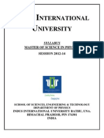 IIU MSc Syllabi