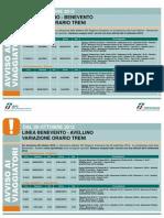 Cambi Orari FS in Campania Dal 28.10.12