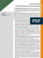 India Strategy_FDI in MBRT_270912