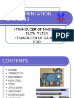 transducer of magnetic field and gauging rod