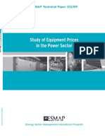 Study of Equipment Prices in the Power Sector