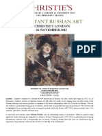 Release - Important Russian Art - 26 November 2012