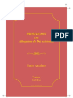 Anselmo Cantuaria Proslogion