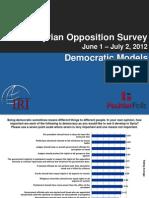 2012 September 21 Survey of Syrian Opposition, Democratic Models Slides, June 1-July 2, 2012