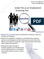 Social Media Under Fire as an Employment Screening Tool