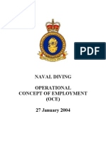 Naval Diving Operational Concept of Employment (Oce) Doc