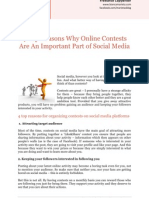 4 Top Reasons Why Online Contests Are an Important Part of Social Media