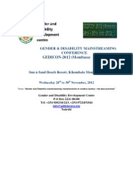 GEDICON_2012 Mombasa Announcement