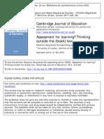 Assessment for LearningThinking