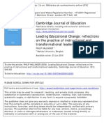 Leading Educational Changereflections