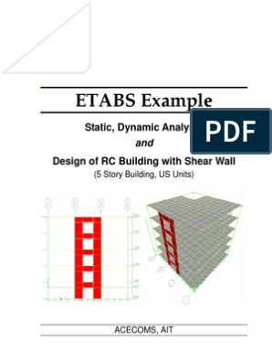 ETABS-Example-RC Building With Shear Wall | Beam (Structure