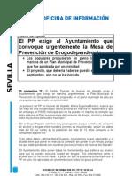 PP Nota Huevar reclama Comisión Drogodependencia