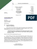 Lori Davis GORA Response 10262012 - Conference Center Lease
