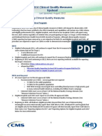 2014 Clinical Quality Measures Tipsheet