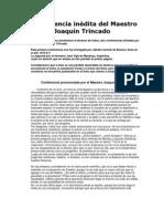 I Conferencia inédita del Maestro Joaquín Trincado