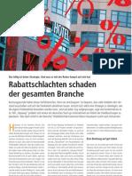 """""""Rabattschlachten schaden der gesamten Branche"""", Kolumne von Marco Nussbaum in Hotel&Technik 5/12"""