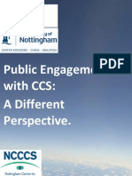 Public Engagement With CCS - A Different Perspective