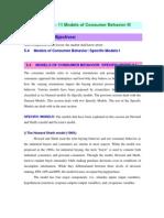 Models of Consumer Behaviour III