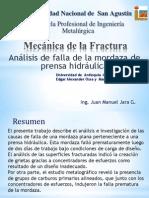 Presentacion v Analisis de Mordaza de Prensa