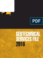 GE Geotechnical Services File 2010