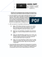 Subramanian Swamy's Statement and Documents Released on Nov 1, 2012