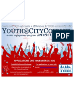 Flier for Youth at City Council
