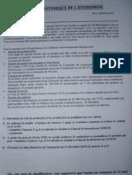Sujet Exam Approche Systémique de l'Entreprise