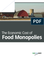Cost of Food Monopolies