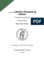 Maktfordeling i Russland Og Ukraina