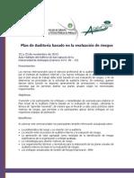 Brochure Seminario Plan Auditoría Base Evaluacion Riesgos