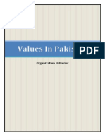 Values in Pakistan - For Merge