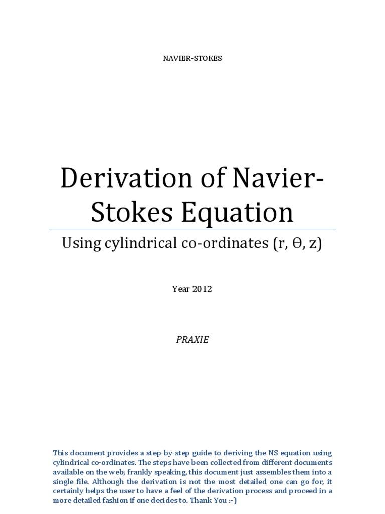 Navier-Stokes Derivation in Cylindrical Coordinates | Stress (Mechanics) |  Continuum Mechanics