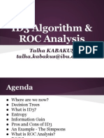 ID3 Algorithm & ROC Analysis