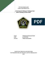 Makalah Etika Profesional Dalam Kaidah Syariat Islam