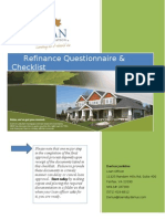 MMC 2012 Refinance Questionnaire and Checklist