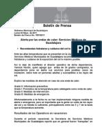 02-05-2011 Alerta por las ondas de calor Servicios Médicos de Guadalajara